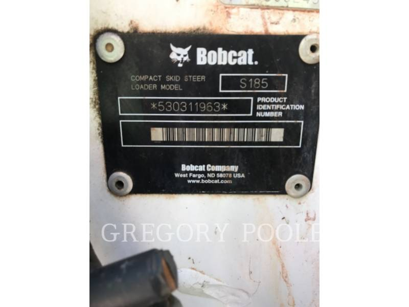 BOBCAT SKID STEER LOADERS S185 equipment  photo 8