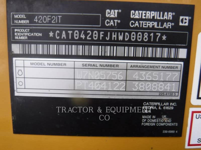 CATERPILLAR バックホーローダ 420F24ETCB equipment  photo 2