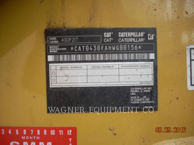 CATERPILLAR RETROEXCAVADORAS CARGADORAS 430F2 IT4W equipment  photo 5