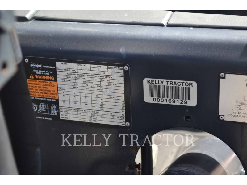 DOOSAN INFRACORE AMERICA CORP. FORKLIFTS D30S-5 equipment  photo 6