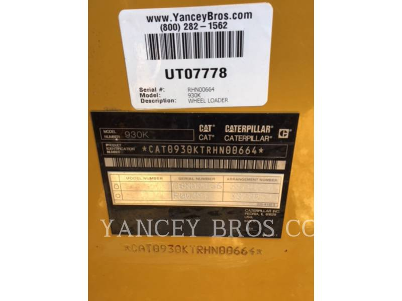 CATERPILLAR WHEEL LOADERS/INTEGRATED TOOLCARRIERS 930K PINON equipment  photo 9