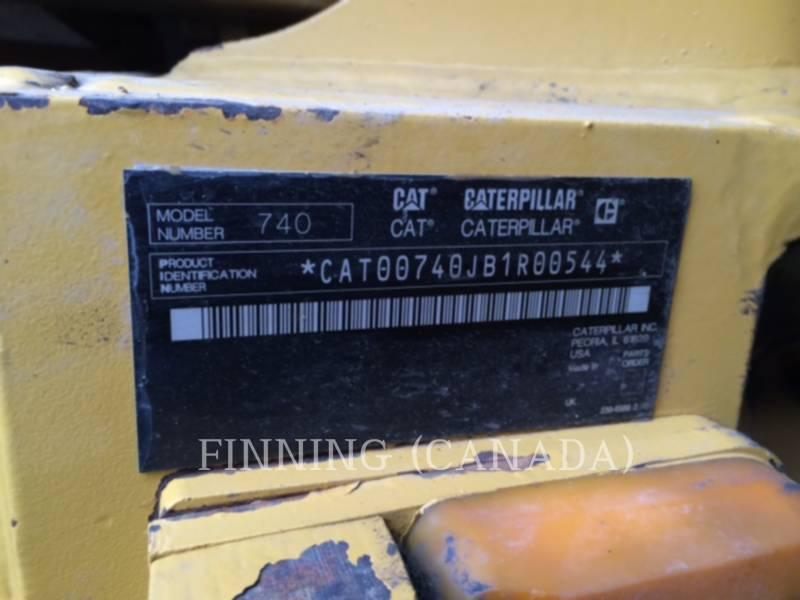 CATERPILLAR ARTICULATED TRUCKS 740EJ equipment  photo 7