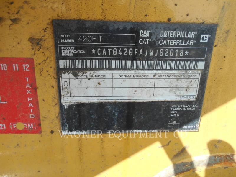 CATERPILLAR RETROESCAVADEIRAS 420F IT4WE equipment  photo 5