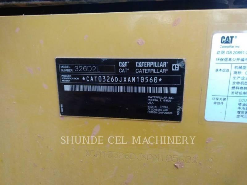 CATERPILLAR TRACK EXCAVATORS 326D2L equipment  photo 2