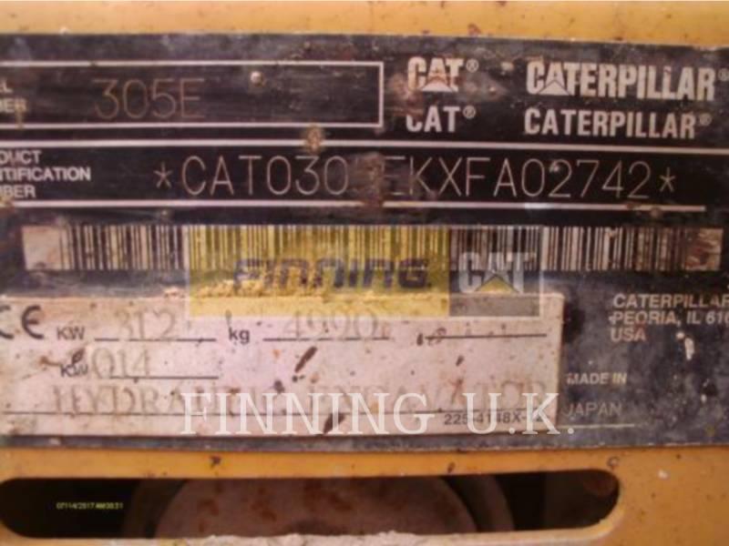 CATERPILLAR KOPARKI GĄSIENICOWE 305EDCA2.2 equipment  photo 6
