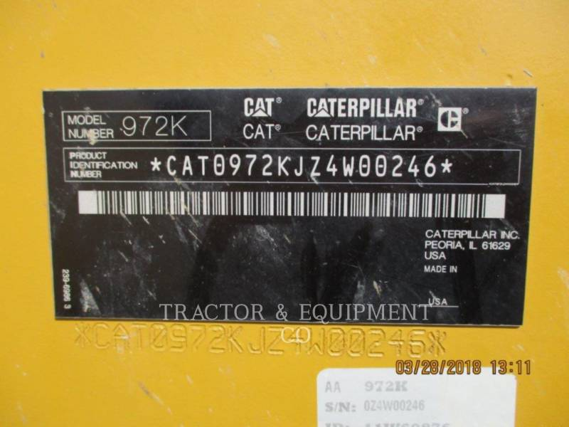 CATERPILLAR PALE GOMMATE/PALE GOMMATE MULTIUSO 972K equipment  photo 2