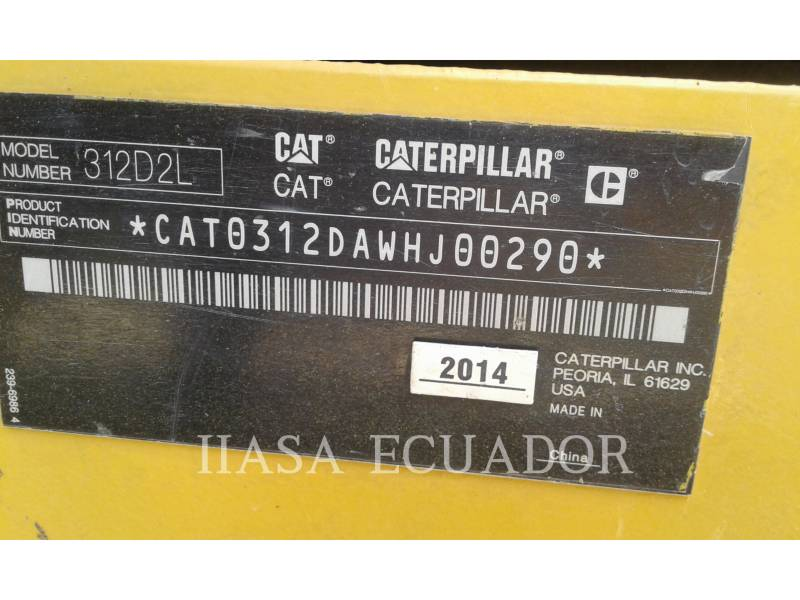 CATERPILLAR EXCAVADORAS DE CADENAS 312D2L equipment  photo 3