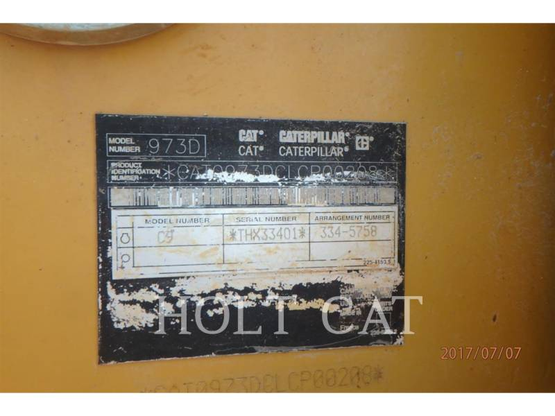 CATERPILLAR TRACK LOADERS 973D equipment  photo 15