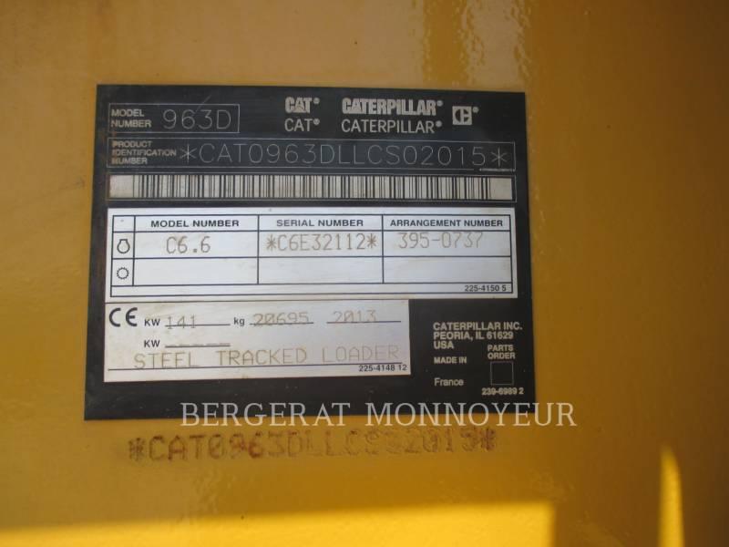 CATERPILLAR KETTENLADER 963D equipment  photo 3