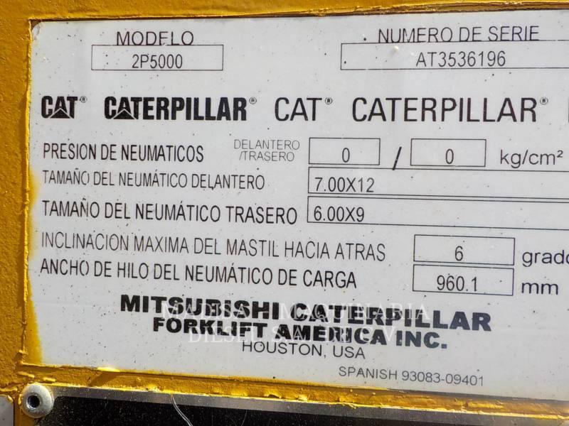 CATERPILLAR LIFT TRUCKS EMPILHADEIRAS 2P5000 equipment  photo 2