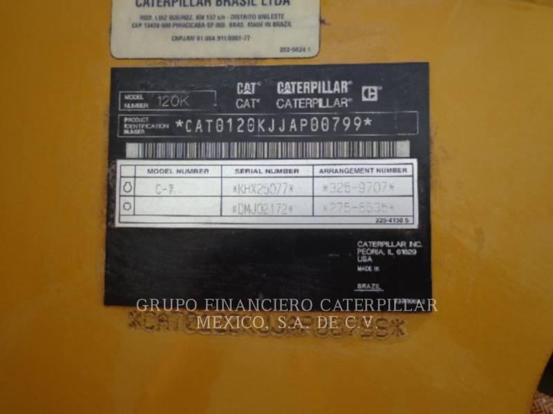 CATERPILLAR MOTONIVELADORAS 120 K equipment  photo 6