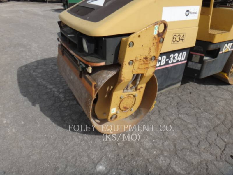 CATERPILLAR TAMBOR DOBLE VIBRATORIO ASFALTO CB-334D equipment  photo 14