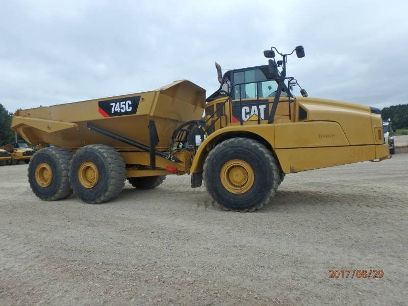 CATERPILLAR KNICKGELENKTE MULDENKIPPER 745C equipment  photo 5