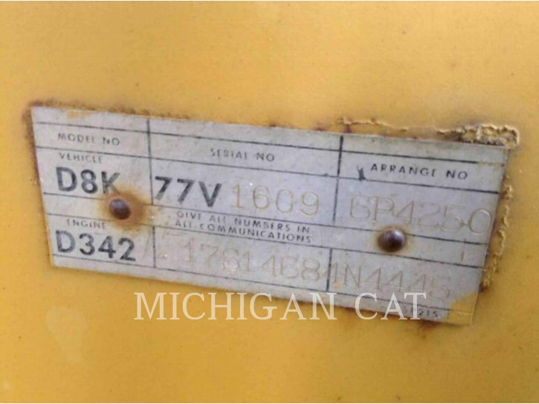Detail photo of 1975 Caterpillar D8K from Construction Equipment Guide