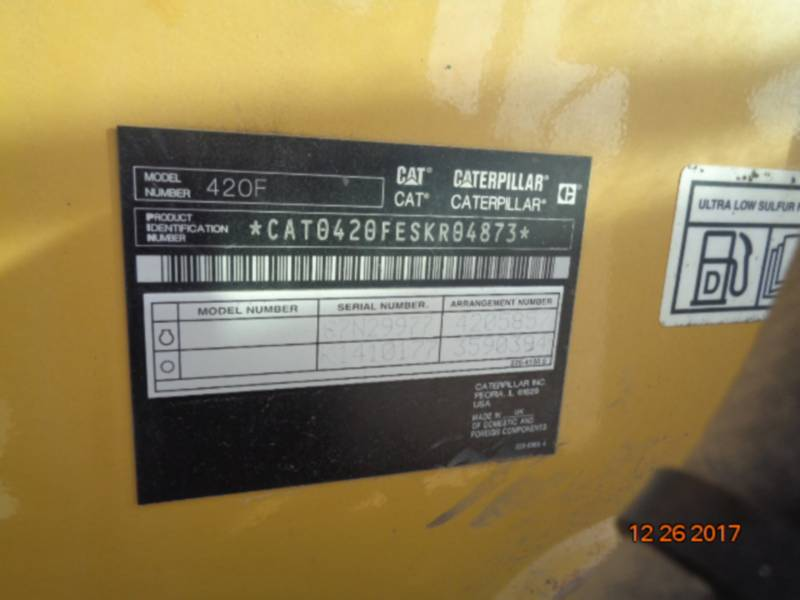 CATERPILLAR BAGGERLADER 420FST equipment  photo 17