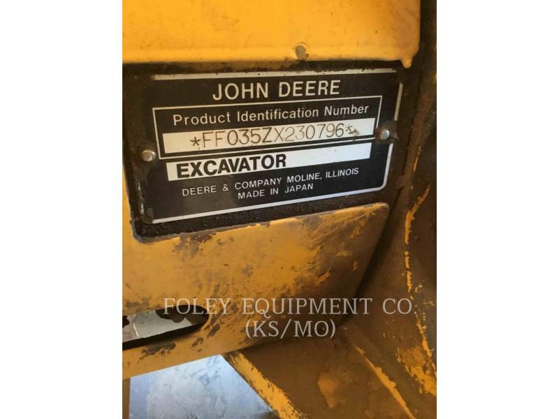 JOHN DEERE トラック油圧ショベル 35 ZTS equipment  photo 1