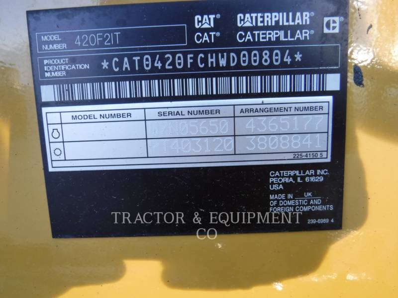 CATERPILLAR BACKHOE LOADERS 420F24ETCB equipment  photo 14