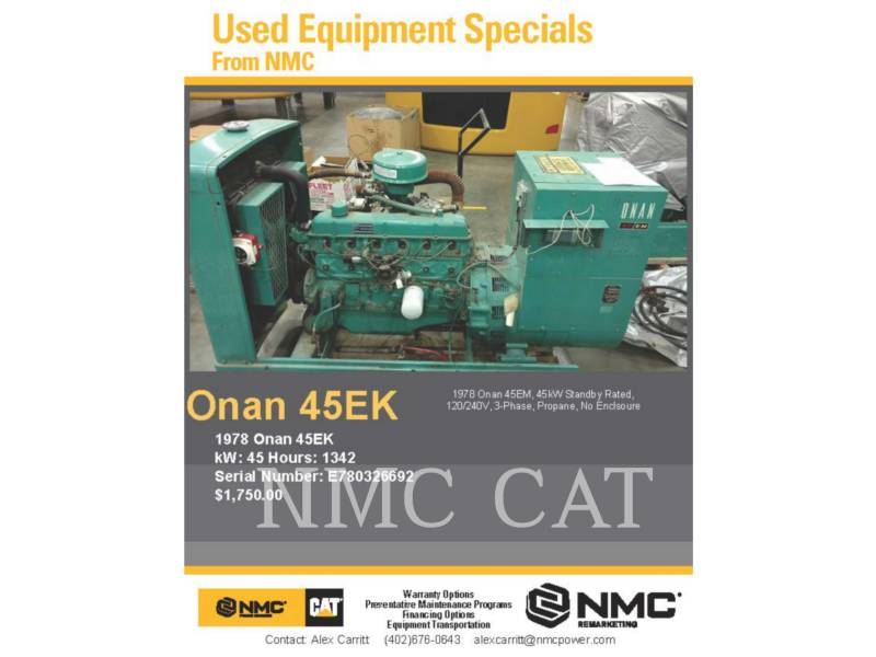 ONAN STATIONARY GENERATOR SETS 45.OEM_ON equipment  photo 5