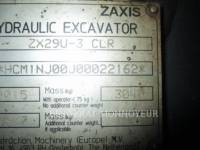 HITACHI TRACK EXCAVATORS ZX29 equipment  photo 17
