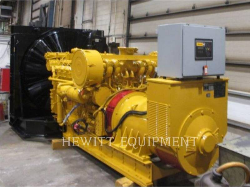 CATERPILLAR STATIONARY GENERATOR SETS 3512, 850KW 600 VOLTS equipment  photo 1