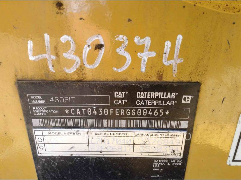 CATERPILLAR BACKHOE LOADERS 430F IT4WE equipment  photo 9
