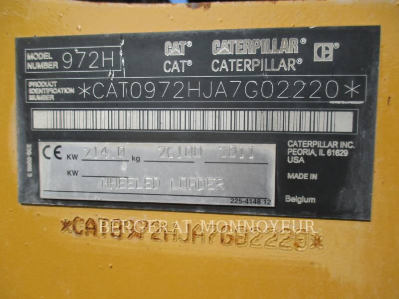 CATERPILLAR RADLADER/INDUSTRIE-RADLADER 972H equipment  photo 21