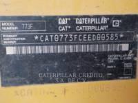 CATERPILLAR 鉱業用ダンプ・トラック 773F equipment  photo 2