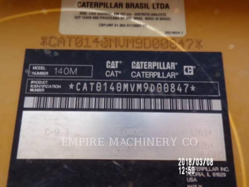 CATERPILLAR NIVELEUSES 140M2 equipment  photo 11