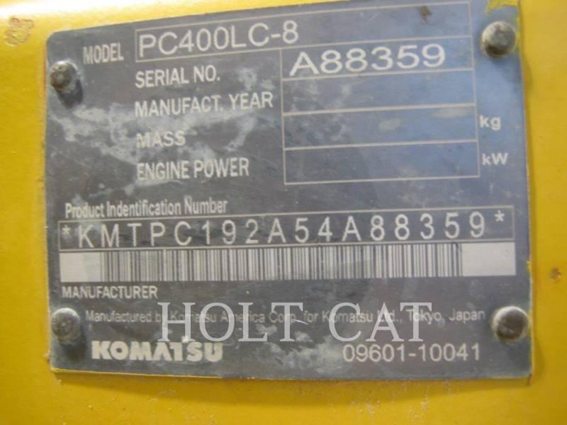 KOMATSU KETTEN-HYDRAULIKBAGGER PC 400LC-8 equipment  photo 5