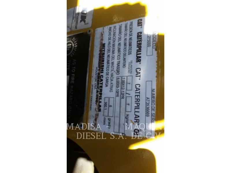CATERPILLAR LIFT TRUCKS FORKLIFTS 2P5000 equipment  photo 5
