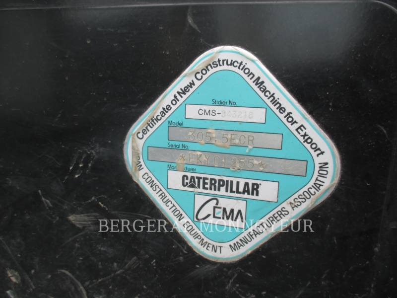 CATERPILLAR EXCAVADORAS DE CADENAS 305.5E CR equipment  photo 8