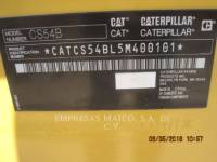 CATERPILLAR COMPATTATORE A SINGOLO TAMBURO VIBRANTE LISCIO CS54BLRC equipment  photo 5