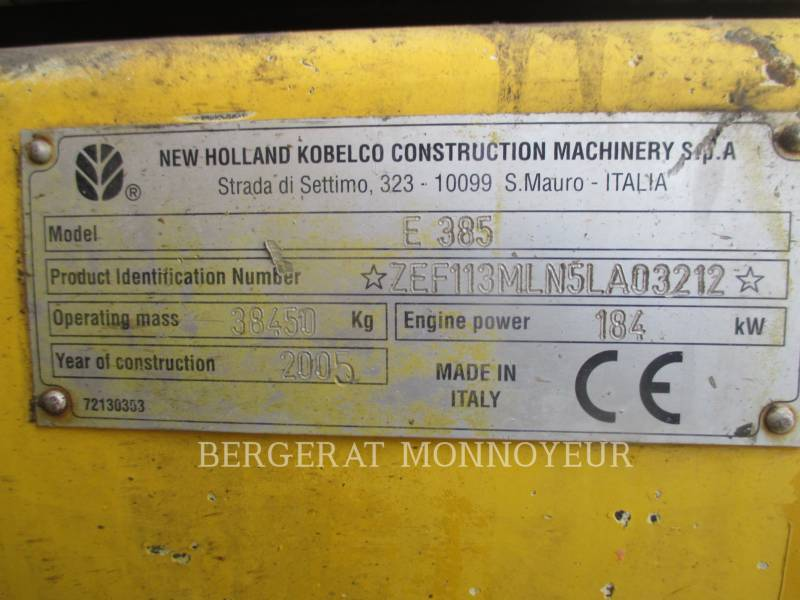 NEW HOLLAND KETTEN-HYDRAULIKBAGGER E385 equipment  photo 4