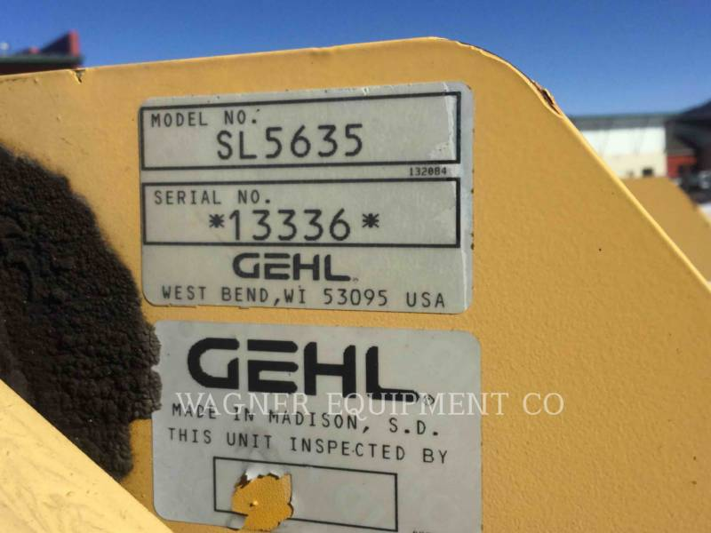 GEHL COMPANY MINICARGADORAS SL5635 equipment  photo 9