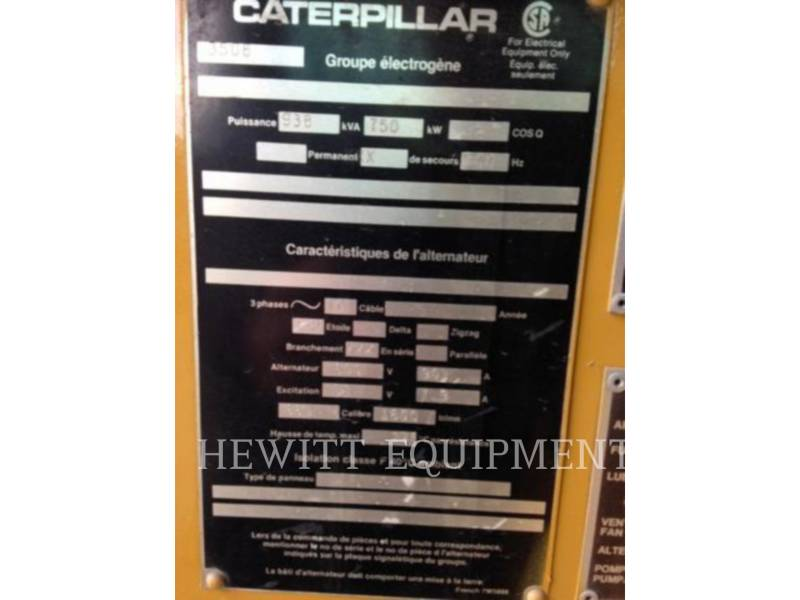 CATERPILLAR COMPOSANTS DE SYSTÈMES SR4 750KW 600V equipment  photo 3