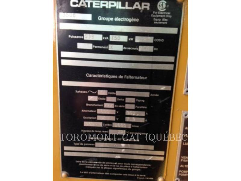 CATERPILLAR SYSTEMS COMPONENTS SR4 750KW 600V equipment  photo 3