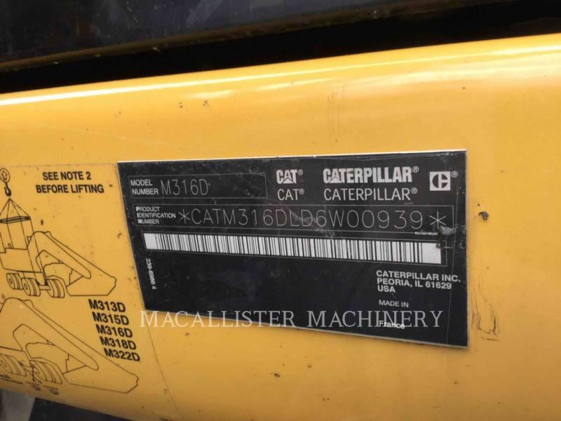 CATERPILLAR MOBILBAGGER M316D equipment  photo 7
