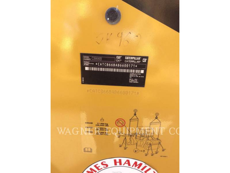 CATERPILLAR COMPACTORS CB66B equipment  photo 5