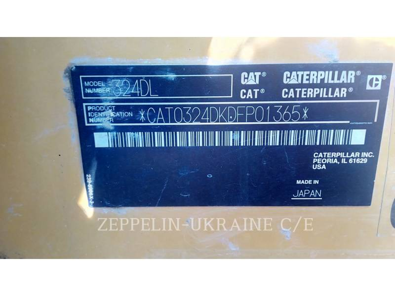 CATERPILLAR EXCAVADORAS DE CADENAS 324DL equipment  photo 7
