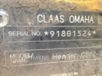 CLAAS OF AMERICA HEADERS C512-30 equipment  photo 6