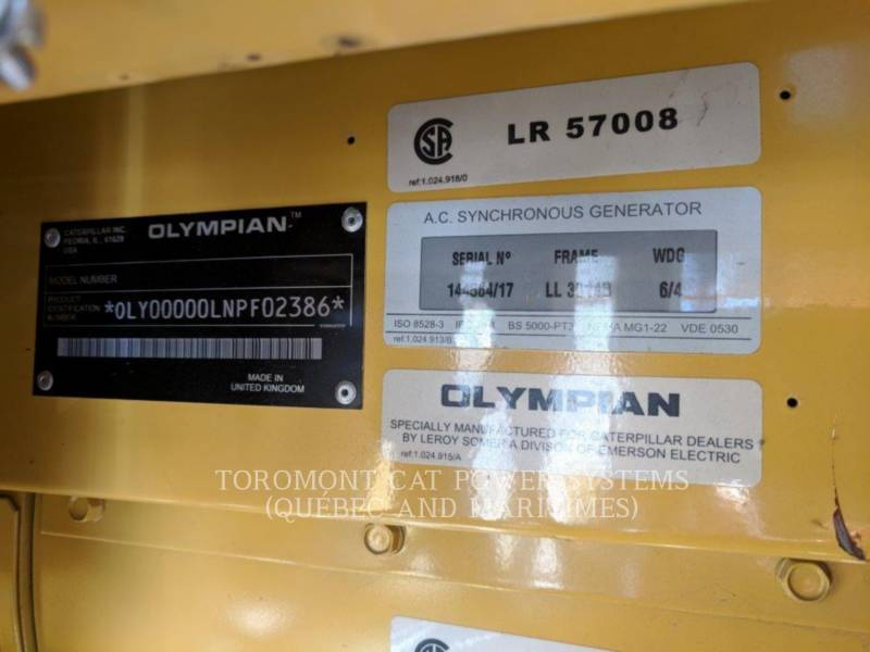 CATERPILLAR STATIONARY GENERATOR SETS D60P3_120_208 V equipment  photo 8