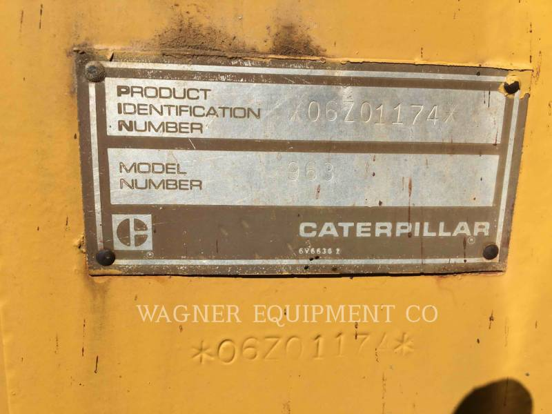 CATERPILLAR TRACK LOADERS 963 equipment  photo 7