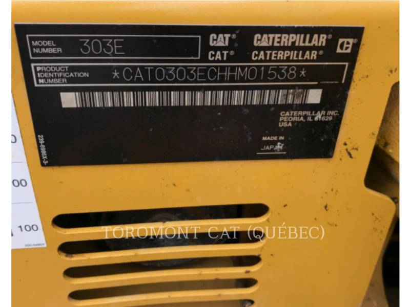 CATERPILLAR ESCAVATORI CINGOLATI 303ECR equipment  photo 13
