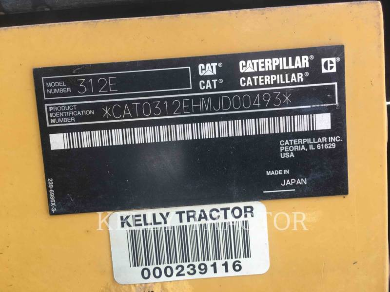 CATERPILLAR TRACK EXCAVATORS 312EL equipment  photo 18