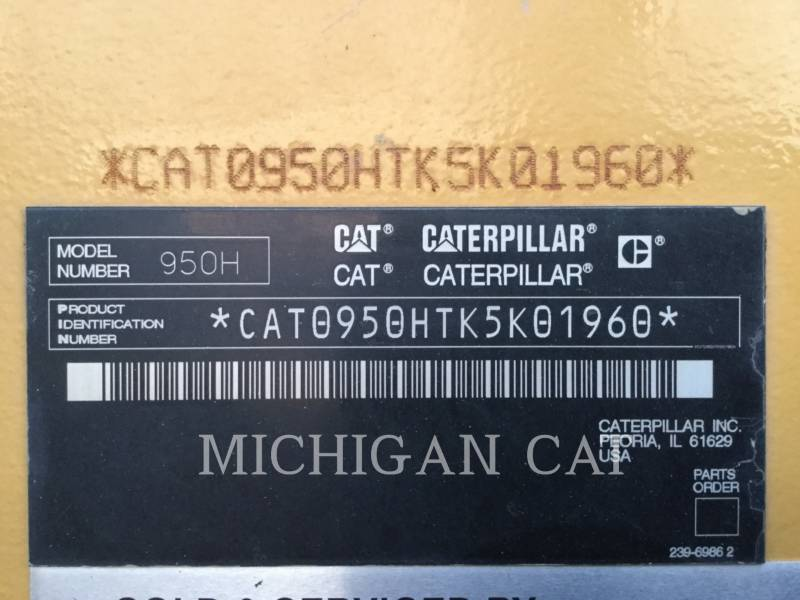CATERPILLAR WHEEL LOADERS/INTEGRATED TOOLCARRIERS 950H RQ+ equipment  photo 13