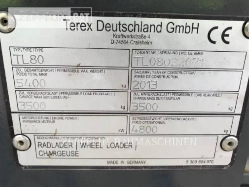 TEREX CORPORATION RADLADER/INDUSTRIE-RADLADER TL80 equipment  photo 8