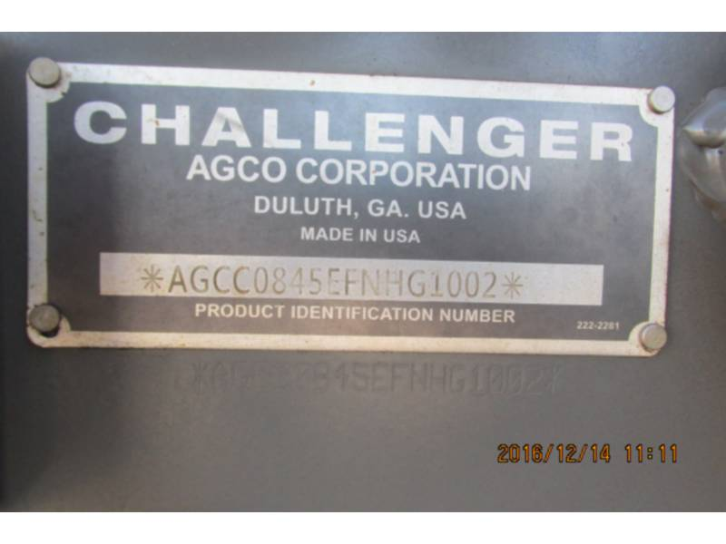 AGCO-CHALLENGER TRACTORES AGRÍCOLAS MT845E equipment  photo 14