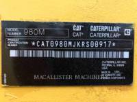 CATERPILLAR RADLADER/INDUSTRIE-RADLADER 980M equipment  photo 7