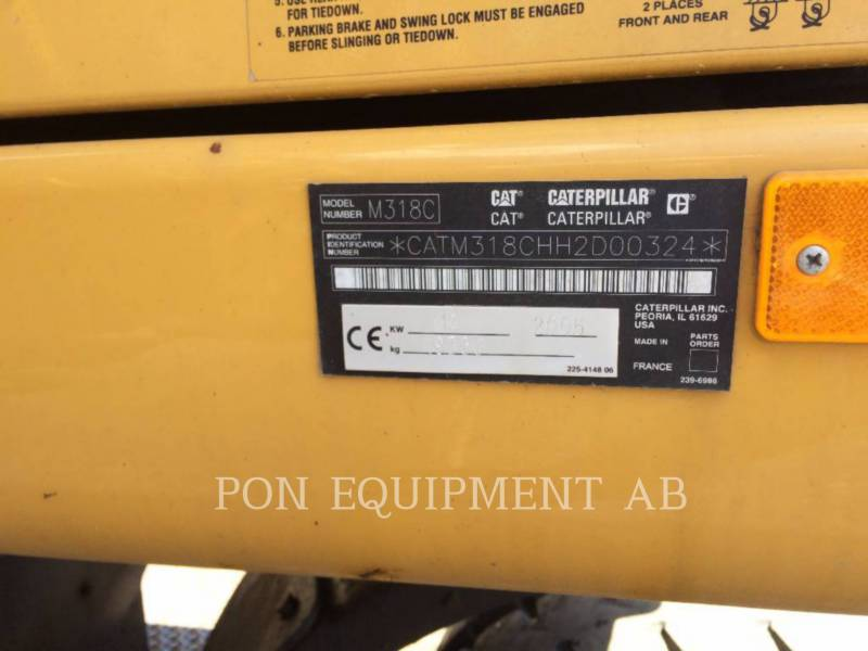 CATERPILLAR ESCAVADEIRAS DE RODAS M318C equipment  photo 8
