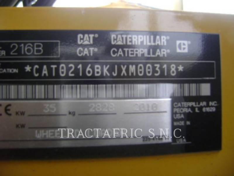 CATERPILLAR SKID STEER LOADERS 216B3 equipment  photo 5
